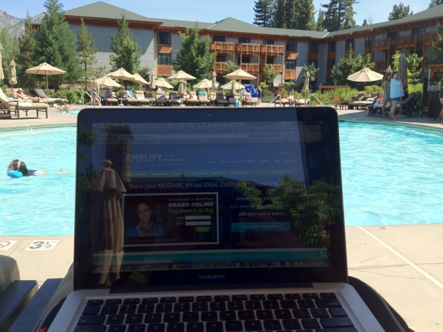 Working hard in Lake Tahoe! A change of environment gave me a fresh perspective!